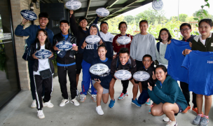 Lao Rugby representatives visited Queens University first. Lisa Law photo.