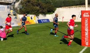 USA and Portugal run on. Photo Federacion Espaniola Rugby.