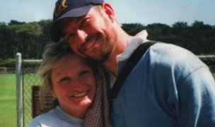 Mark Bingham and his mother, Alice Hoagland.
