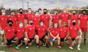 All masked up, the Met NY U23s hope their aherance to safety gets them a game.