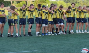 Post-match at the Rugby Ohio final, Moeller players ponder almost getting there. Alex Goff photo.
