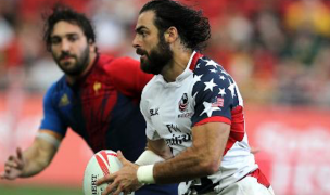 Nate Ebner for the USA in the 2016 Singapore 7s. Photo Martin Seras Lima for World Rugby.