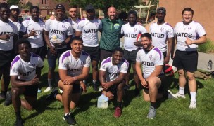 New Mexico Highlands' 7s team in June of 2019. Photo published on social media by New Mexico Highlands University
