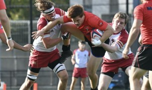 Northeastern took it to BC last week. Photo @coolrugbyphotos.