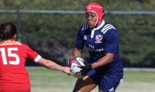 Phaidra Knight for the USA against Canada. Photo USA Rugby.