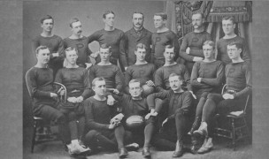 The 1877 Princeton football - or rugby - team.