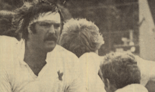 Rick Bailey for the Eagles. Photo from Rugby Magazine.