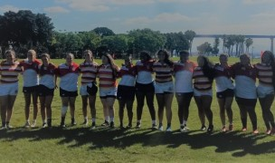 Camaraderie in girls HS rugby in Southern California.