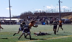 Charlotte goes in for one of their six tries. Photo Alex Goff.