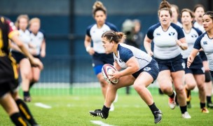 Kat Stowers assesses her options. Photo BYU Rugby.