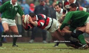 Richard Tardits scored vs Ireland in 1996. James Meehan-INPHO photo.