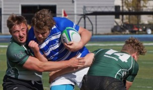 Thomas More in action from last fall. Stephen Oldfield photo.