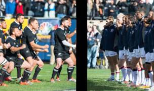 The USA faced the All Blacks in 2014. USRF's Lost Luncheon was there, too. David Barpal photo.