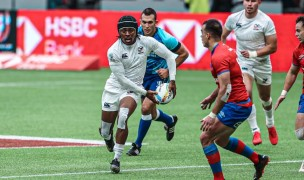 Kevon Williams finds some room against Chile. Photo USA Rugby.