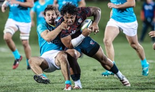 Joe Taufete'e was a big part of a solid front row effort, especially in the scrum. Photo USA Rugby.