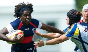 Vanesha McGee at the 2014 Women's Rugby World Cup. Ian Muir photo.