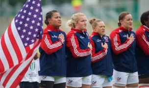 The USA singing the anthem in 2017. Ian Muir photo.