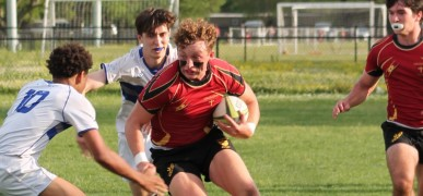 Brandon Bourg had a huge game for Brother Martin in a win over New Orleans Jesuit. Photo Brother Martin Rugby.