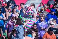 Fans love to dress up at the Sevens World Series. David Barpal photo.
