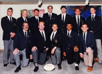 Kevin Higgins, front row second from left, with the USA team in Hong Kong in 1990. Emil Signes photo.