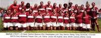 The 2005 STanford women's team, national champs. Jocelyn Tseng is in the back row, third from the right. Photo Rugby Magazine.