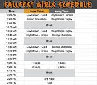 Girls bracket in 2020 Rugby PA Fall Fest.