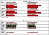 Charrlote Ruggerfest Schedule Field 1