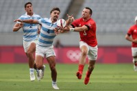 It was a battle between Argentina and Great Britain. Mike Lee KLC fotos for World Rugby.