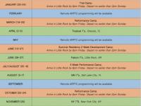 ARPTC HS Camp Schedule