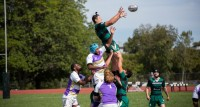 Lineout time. Trent Wechsler with the win. Photo Corey Velazquez.