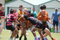 Charlotte in orange, Jacksonville in red. Charlotte Tigers Rugby photo.