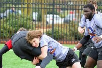 Isaac Prevette saves a try. Photo CJRA.