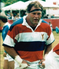 Chris Lippert in the USA jersey, which he donned 38 times. Photo US Rugby Hall of Fame.