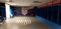 Locker room at Dignity Health Sports Park. Alex Goff photo.