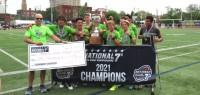Rhinos receives their $1000 championship check. Alex Goff photo.