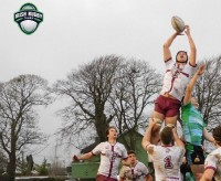 Fordham lineout vs Galwegians. Photo Irish Rugby Tours.