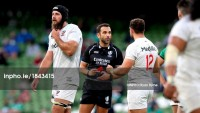 Hattingh leaves the field after being sent off by Referee Mathieu Raynal.  Photo INPHO/Ryan Byrne.