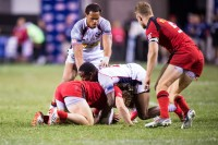 Yes he can tackle too. David Barpal photo.