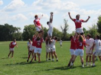 Indiana won this lineout, but struggled in this aspect of play all day. Alex Goff photo.