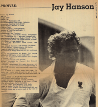 Jay Hanson is profiled by Rugby Magazine in 1981.