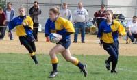 Kelsi Stockert in one of her first ever games as a freshman in high school. Photo Budd Bay Steelheads.