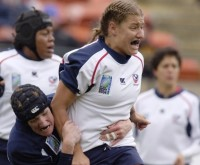Kristin Zdanczewicz during USA's defeat of Scotland in the 2006 Women's Rugby World Cup.