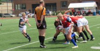 Time to attack off the scrum. Alex Goff photo.