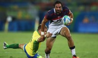 Nate Ebner finds some room during the 2016 Olympics. Photo US Olympic Committee.