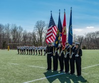 West Point Cadets salute. Colleen McCloskey photo.