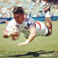 Pati scoring for the USA 7s team.