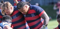 Payton Telea Ilalio gets ready to pack down against BYU. Photo: Saint Mary's Rugby