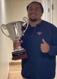 Payton Telea Ilalio with his trophy.