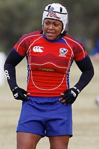 Knight with the USA 7s team.