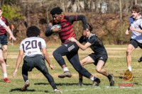 Raleigh Rugby Club youth in action. Mark Brocker photo.